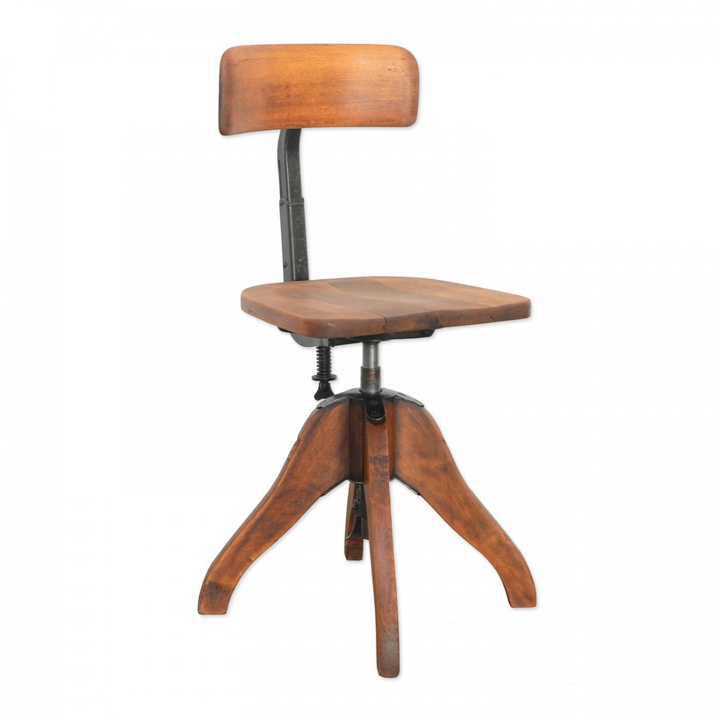 originaler b rostuhl der federdreh von albert stoll. Black Bedroom Furniture Sets. Home Design Ideas