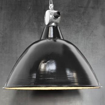 Emaillelampe im Baihaus-Stil