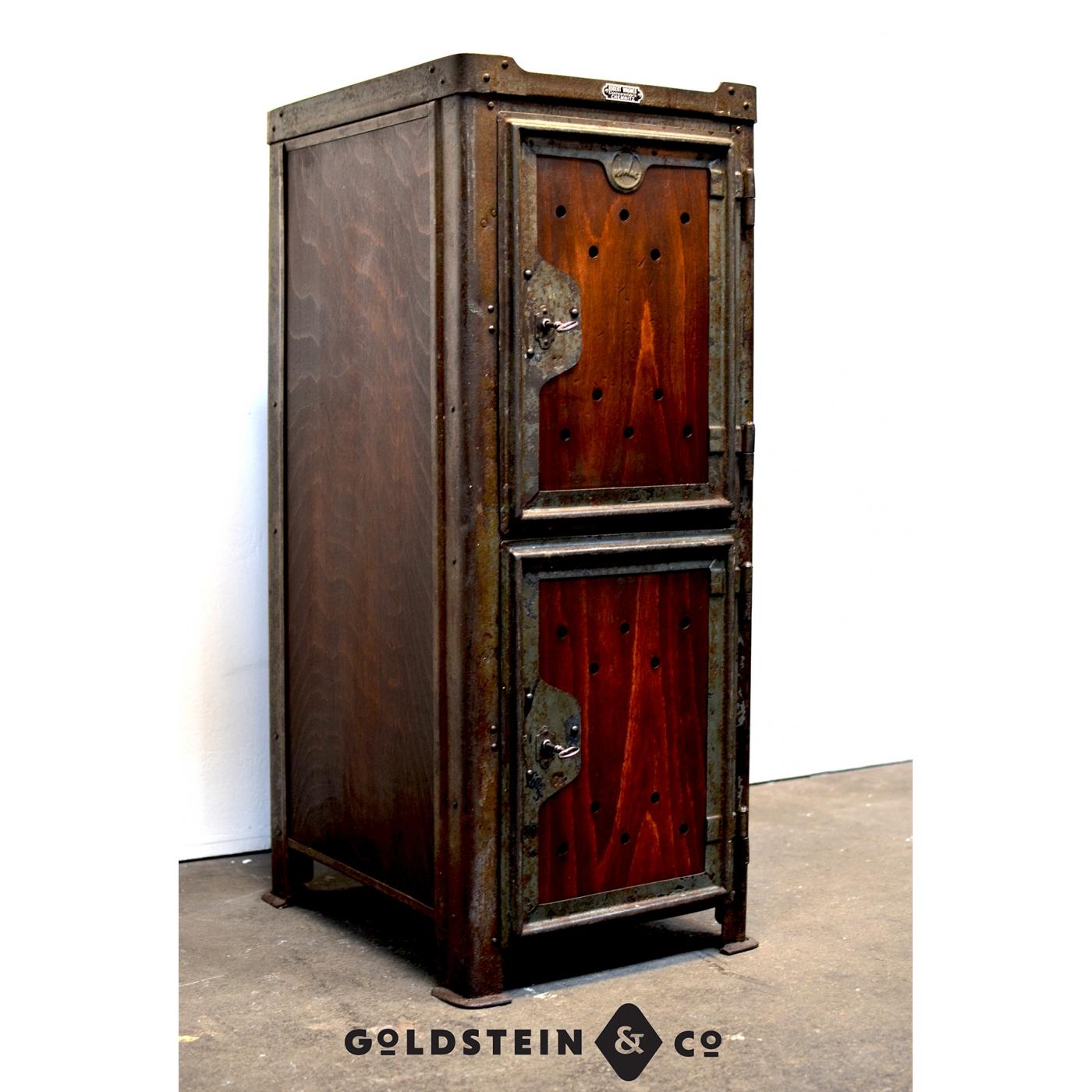 originaler werkstattschrank aus stahlblech - goldstein & co